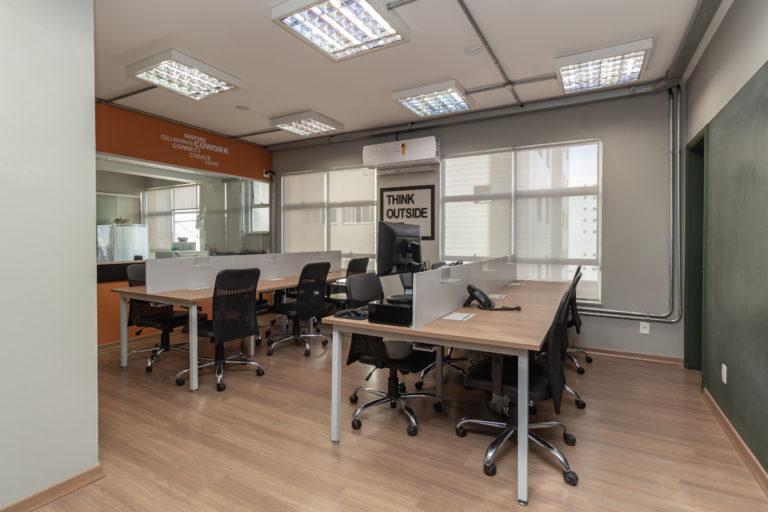 Ambiente de trabalho no coworking