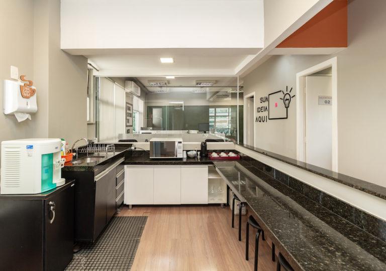 espaco gourmet cozinha desk coworking
